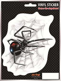 Black Widow Spider Auto Sticker